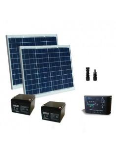 Kit Solaire Portail Electrique 100W 24V Panneau Contrôleur Batterie AGM 26Ah SB