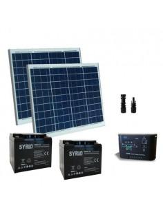 Kit Solaire Portail Electrique 100W 24V Panneau Contrôleur Batterie AGM 40Ah SB