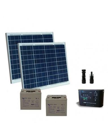 Kit Solare Cancelli Elettrici 100W 24V Pannelli Solari Regolatore di Carica