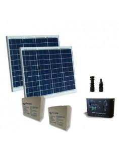 Kit Solaire Portail Electrique 100W 24V Panneau Contrôleur Batterie AGM 25Ah