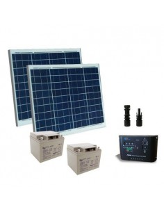 Solar-Kit Elektrifiziert Turen 100W 24V SR Module Laderegler Batterie AGM 38Ah