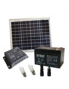 Kit Solare Votivo 10W 12V SR Pannello Regolatore 5A PWM Batteria 12Ah AGM