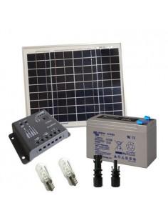 Kit Solare Votivo 10W 12V SR Pannello Regolatore 5A PWM Batteria 8Ah AGM