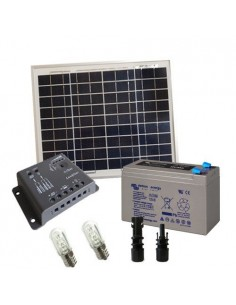 Votive Solar Kit 10W 12V SR Solar Panel Charge Controller 5A PWM Battery 8Ah AGM