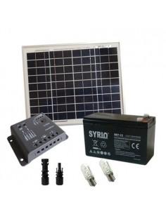 Kit Solare Votivo 10W 12V SR Pannello Regolatore 5A PWM Batteria 7Ah AGM