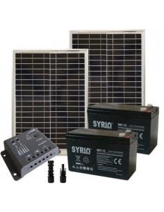 Kit Solare Cancelli Elettrici 40W 24V SR Pannelli Regolatore Super Cycle 12Ah