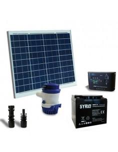 Kit Solare Irrigazione 42l/m 12V Pannello Regolatore Pompa Batteria AGM 40Ah SB
