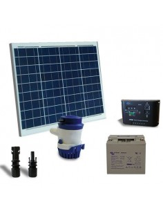 Kit Solare Irrigazione 42 l/m 12V Pannello Regolatore di carica Pompa Batteria