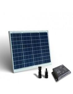 Kit Solare Base 50W 12V SR Pannello Fotovoltaico Regolatore 5A PWM