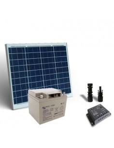 Kit Solare Pro 50W 12V Pannello Fotovoltaico Regolatore 5A PWM Batteria 40Ah