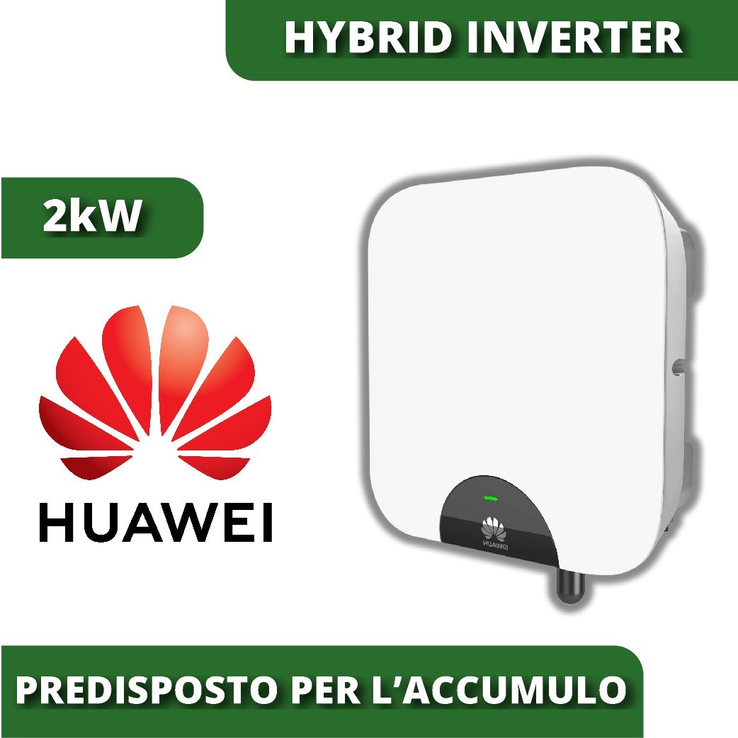 hybrid inverter Huawei 2kW suitable for grid photovoltaics with battery  storage