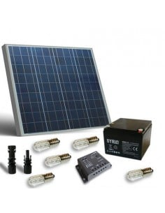 Votive Solar Kit 50W 12V Solarladereglern 5A PWM Lampen Batterie AGM 26Ah SB