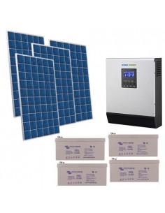 Kit Casa Solare 2.2kW 48V Pro Impianto Accumulo Inverter Batteria GEL 220Ah