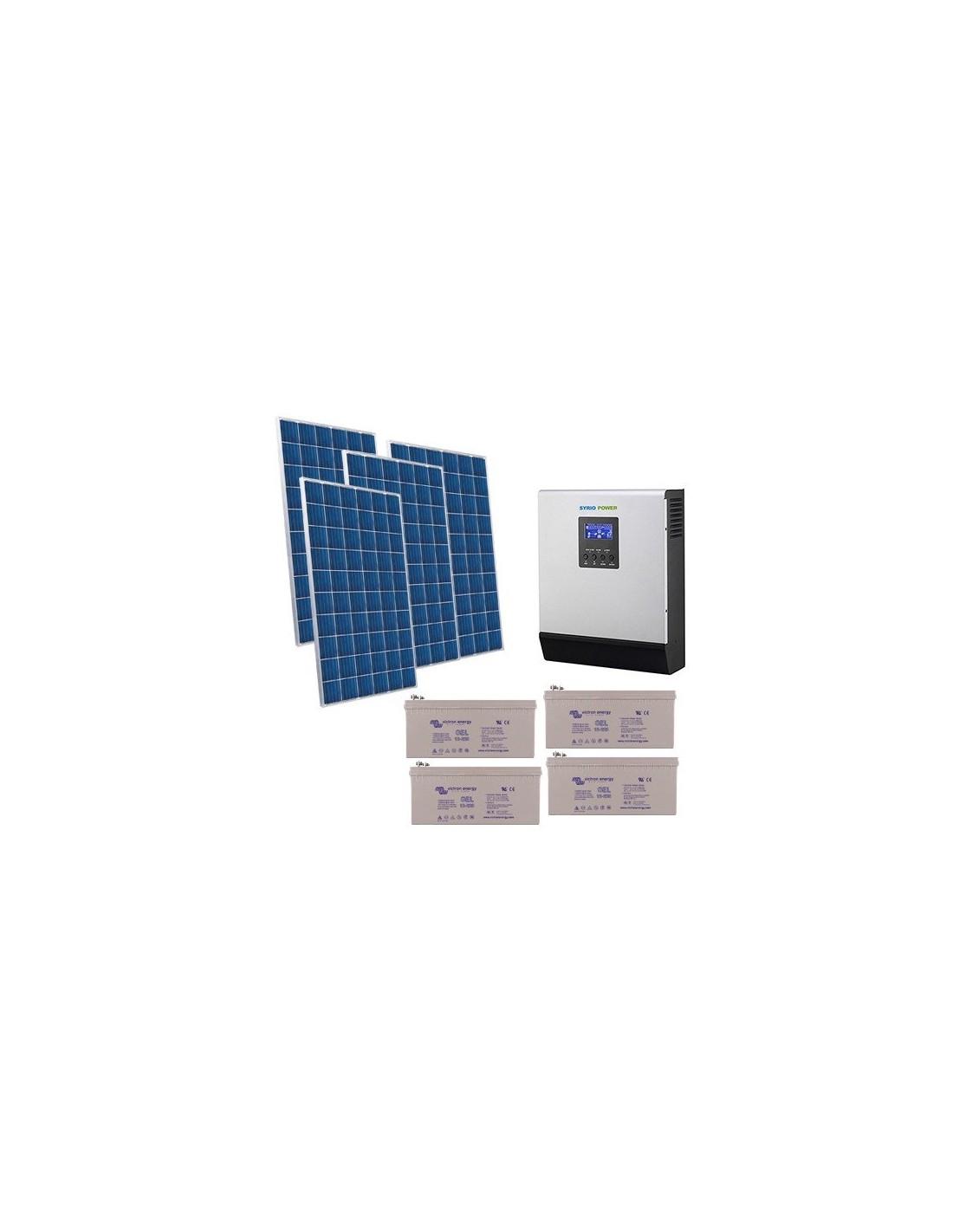 Solar House Kit 2 5kW 48V Pro System Inverter Accumulation GEL Battery 220Ah