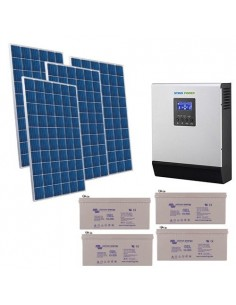 Kit Casa Solare 2.8kW 48V Pro Impianto Accumulo Inverter Batteria GEL 220Ah
