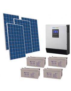 Kit Casa Solare 3kW 48V Pro Impianto Accumulo Inverter Batteria AGM 220Ah