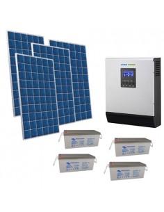 Kit Casa Solare 3kW 48V Pro Impianto Accumulo Inverter Batteria AGM 230Ah