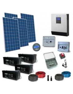 Kit Casa Solare 2.2kW 48V Plus Impianto Accumulo Inverter Batteria AGM 200Ah SB