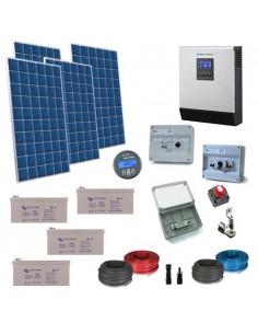 Kit Casa Solare 2.2kW 48V Plus Impianto Accumulo Inverter Batteria GEL 220Ah
