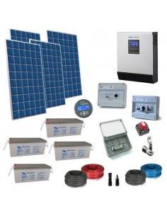 Kit Casa Solare 2.2kW 48V Plus Impianto Accumulo Inverter Batteria AGM 230Ah
