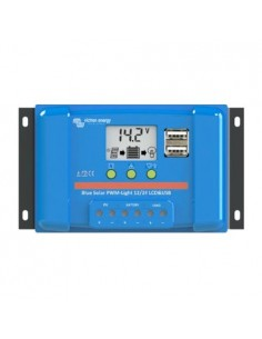 Regolatore di Carica PWM BlueSolar 5A 12/24V Display LCD e USB Victron Energy