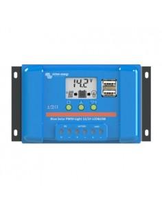 BlueSolar PWM LadeRegler 10A 12/24V Flüssigkristallbildschirm USB Victron Energy