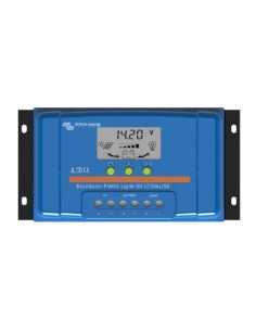 Regolatore di Carica PWM BlueSolar 10A 48V Display LCD e USB Victron Energy