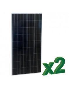 Set di 2 Pannelli Solari Fotovoltaico 175W 12V Totale 350W Policristallino