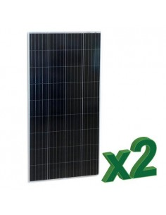 Set of 2 Photovoltaic Solar Panels 175W 12V Total 350W Polycrystalline
