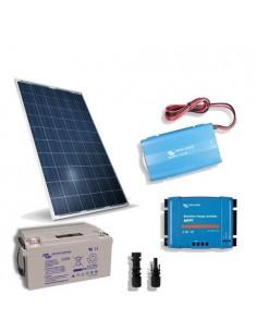 Kit solare baita 80W 12V Pro2 pannello regolatore inverter batteria 60Ah