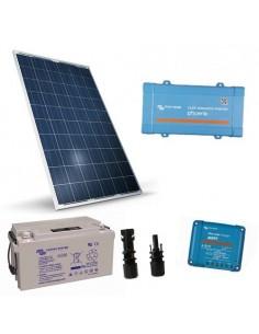 Kit Solaire Chalet Lux 280W 12V Panneau Onduleur 300W Batterie AGM 110Ah