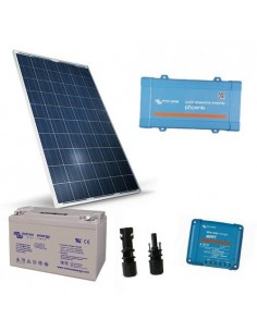 Kit Solaire Chalet Lux 280W 12V Panneau Onduleur 300W Batterie GEL 110Ah