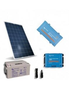 Kit Solaire Chalet Lux 280W 12V Regulateur Onduleur 650W Batterie AGM 165Ah