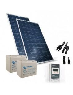 500W 24V Solar-Kit pro Solarmodul Panel Laderegler 20A-PWM 2xAkkumulator 80Ah