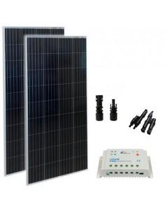 Kit Solare Base 350W 12V VE Pannello Fotovoltaico Regolatore di Carica 30A PWM