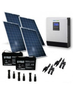 1KW Solar Kit Chalet Pro Solar Panel Inverter Battery Charger Controller MC4