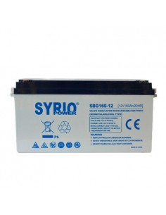 GEL Battery 160Ah 12V Deep Cycle Syrio Power Photovoltaic Maraine Camper