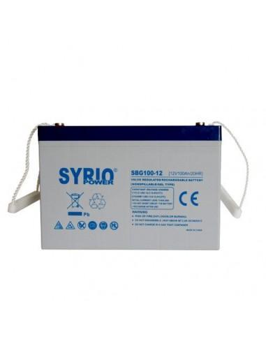 GEL Battery 100AH 12V Deep Cycle Syrio Power Photovoltaic Maraine Camper