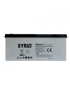 Batteria AGM 200Ah 12V Deep Cycle Syrio Power Fotovoltaico Nautica Camper
