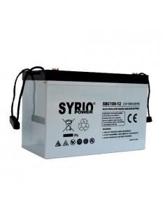 Batterie AGM 100Ah 12V Cycle Profond Syrio Power Photovoltaïque Nautica Campeur