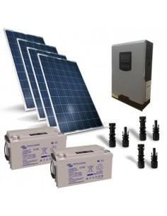 Kit Solare Baita Pro 1KW 24V, Impianto Fotovoltaico Stand-Alone Isola