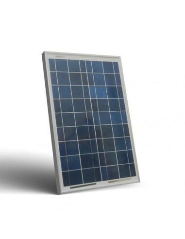 Placa Panel Solar Fotovoltaico 20W 12V Autocaravana Barco Chalet Off-Grid