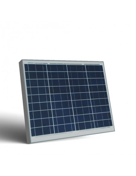 Pannello Solare Fotovoltaico 50W  12V Camper Barca Baita Stand-Alone Off-Grid