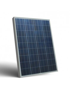Photovoltaic Solar Panel 80W 12V Polycrystalline PV System Camper Boat Chalet