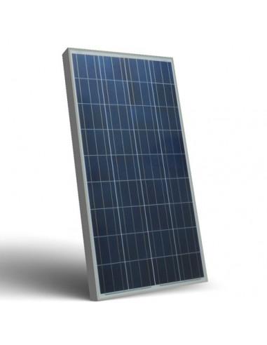 Placa Panel Solar Fotovoltaico 130W 12V Autocaravana Barco Chalet Off-Grid