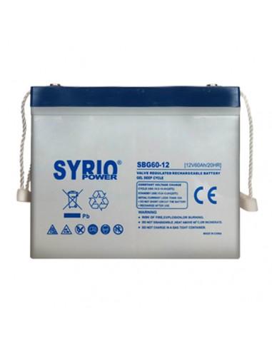 GEL Battery 60Ah 12V Deep Cycle Syrio...