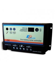 Regolatore di Carica PWM REGDUO 10A 12/24V EP Solar EP Series Fotovoltaico