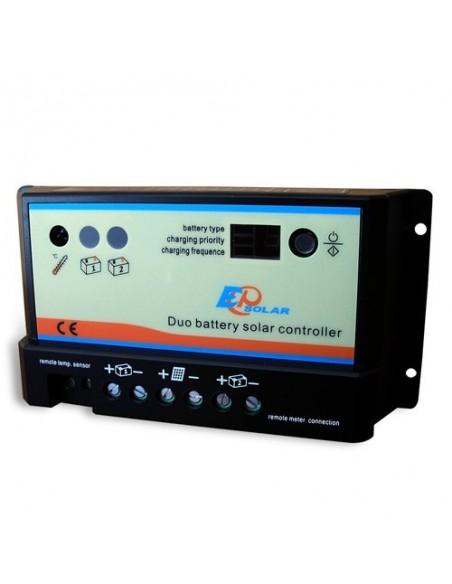 Regolatore di Carica REGDUO 10A 12/24V EP Solar EP Series Fotovoltaico