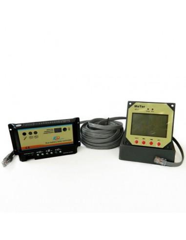 Controleur de charge Ep Solar PWM 10A 12/24V REGDUO EP Series + Display a distance MT-1