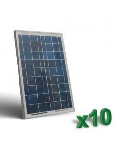 Set 10 x Pannelli Solari Fotovoltaico 20W 12V tot. 200W Camper Barca Baita